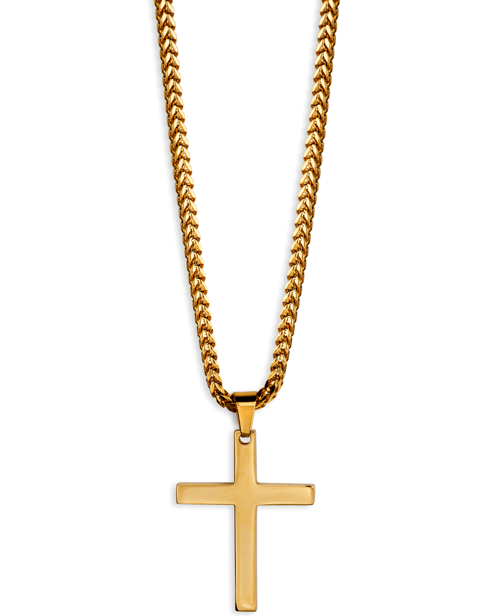 jewelry necklaces gold 18kt cross necklace franco