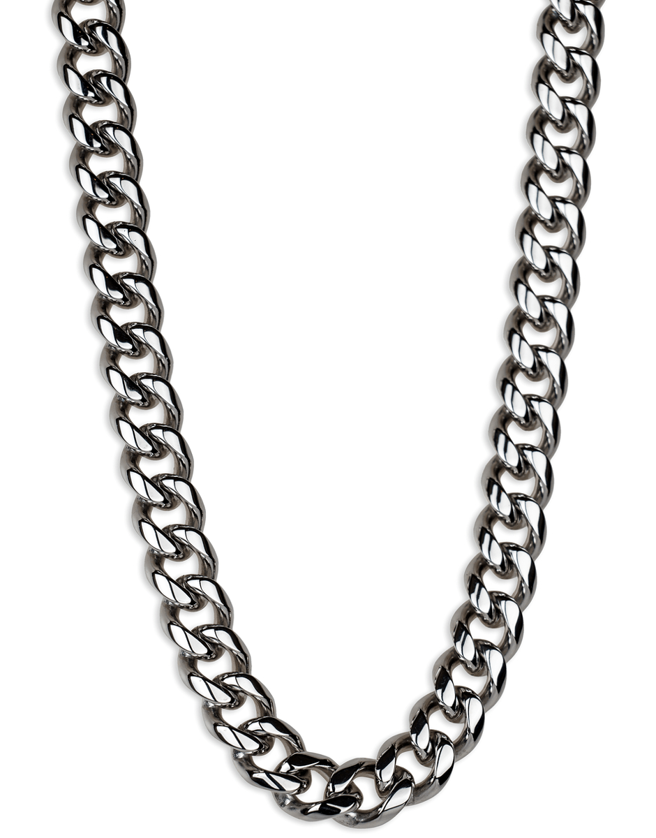 jewelry necklaces silver cuban link chain