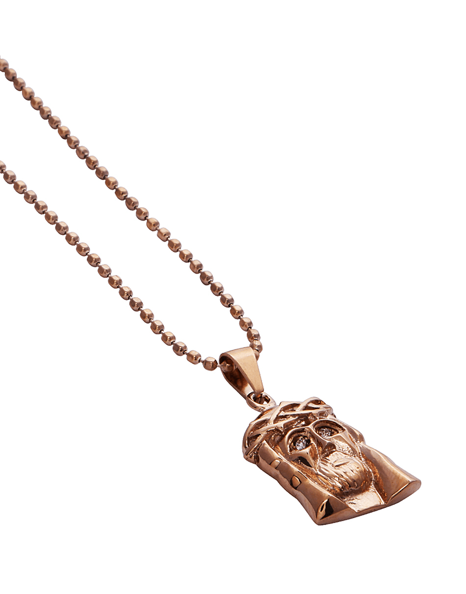 Jewelry necklaces rose gold 18kt micro crown of thorns jesus rose gold 18kt micro crown of thorns jesus piece necklace aloadofball Image collections