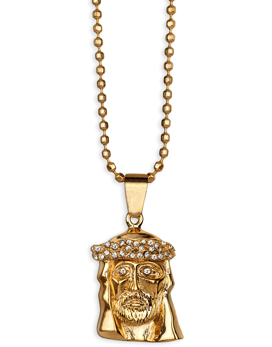 Jewelry necklaces gold 18kt micro jesus piece necklace ball gold 18kt micro jesus piece necklace ball chain aloadofball Images